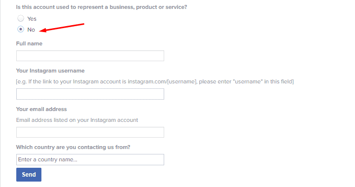 INSTAGRAM CONTACT FORM TO RECOVER DELETED ACCOUNT