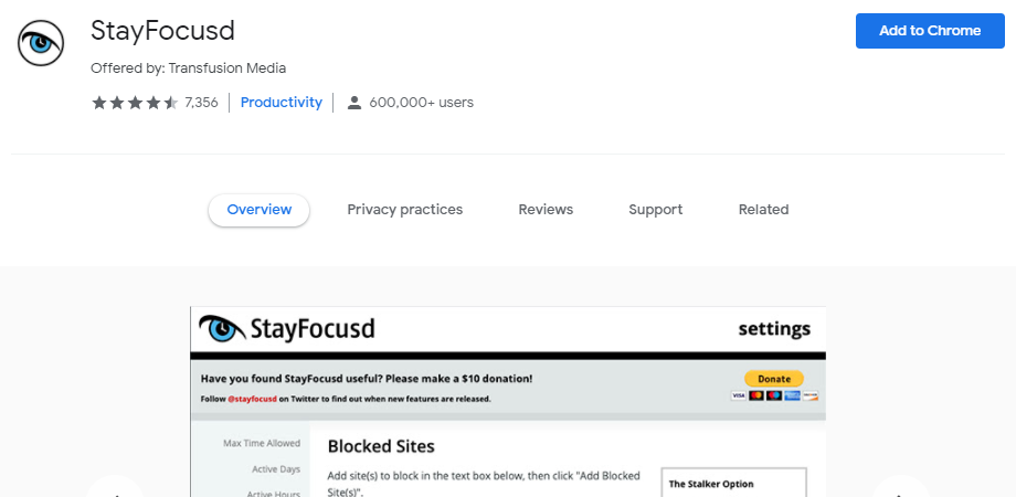 StayFocusd CHROME EXTENSIONS